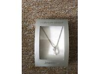 M&S platinum plated necklace