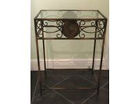 Small telephone , console table in antique bronze