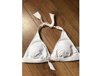 White bikini top size 12