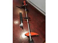 Almost New Tanaka Long Arm Hedge Trimmer & Line Trimmer Set