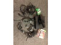 Xbox 360 console with Kinect headsets games controllers