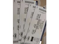2x Tickets for Kings of Leon at Leeds Arena on Sunday 19th February // Block 219