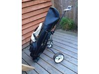 GOLF CLUBS , BAG , TROLLEY AND ACCESSORIES