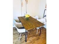 Hairpin leg dining table