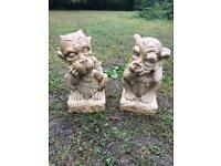Pair Gargoyle Garden ornament