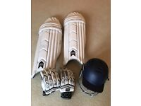 Cricket Pads, Gloves and Helmet