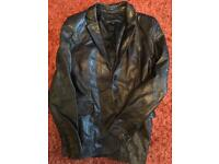 Ladies leather jacket size 8 French Connection