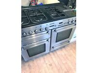 Range cooker in silver