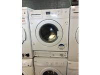 white beko integrated washing machine it's 7kg 1600 spin in excellent condition
