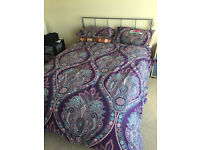 Standard doble bed and mattress