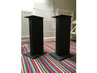 Black steel speaker stands