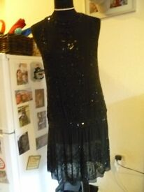 KAREN MILLEN 1920's JEWELED STUNNING DRESS SIZE 12