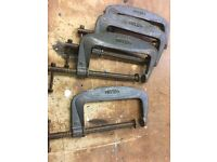 Heavy Duty Solid Steel G Clamps 14 in total