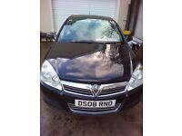 2008 5Dr Black Vauxhall Astra 1.4lt petrol With Full Years MOT