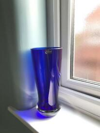 Blue Darlington Crystal Vase