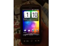 HTC desire mobile phone with charger and original box