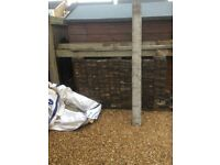 340 block paving bricks and re encorced concrete posts and kick boards