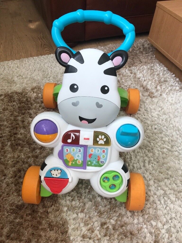 da13a5f4a Fisher-Price Learn with Me Zebra Walker Argos smyths toys rrp £32 ...