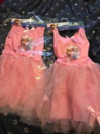 2 X 5-6Years Disney Frozen Dresses