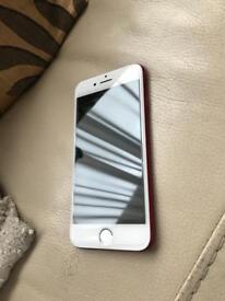 Iphone 7 Red 128gb Unlocked. Excellent condition