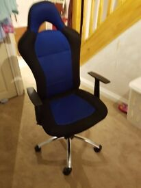 HOME Gaming Office Chair - Blue and Black