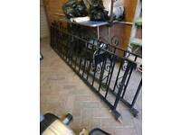 Iron garden fencing