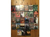 37 dvd movie films various action matrix i-robot kids thomas the tank chicken run job lot of dvds