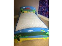 Dinosaur Toddler Bed & Mattress