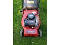 LawnKing self propelled petrol lawnmower and grassbox