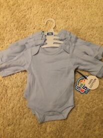 New With Tags! Set of 4 Blue Vests Size 3-6 Months - WILL POST FOR £2