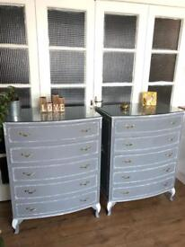 PAIR LOUIS CHEST OF DRAWERS FREE DELIVERY LDN🇬🇧SHABBY CHIC X-mas gift