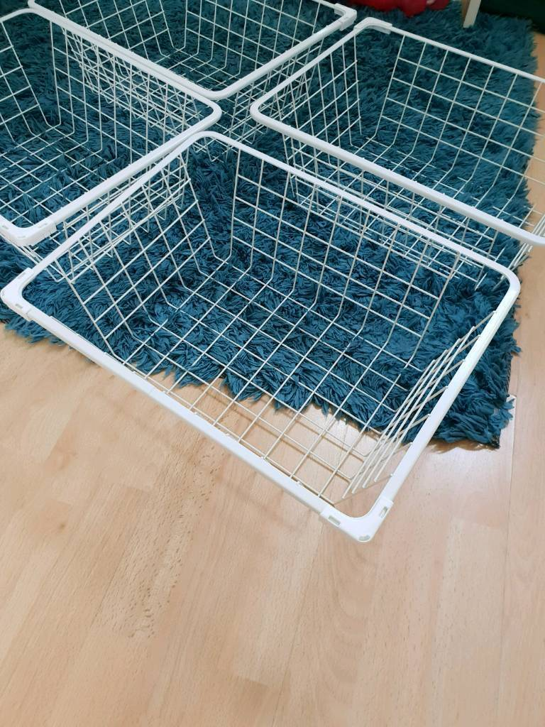 IKEA Pax Wire Baskets White 44 x 32 x 16cm | in Sheffield, South ...