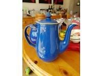 Denby imperial blue tall coffee pot