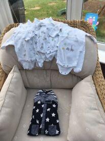 Immaculate next baby grow bundle