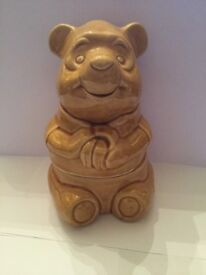Vintage Disney Winnie The Pooh cookie/biscuit jar.