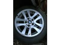 BMW alloys with winter tyres 205/55/16