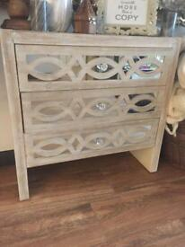 REDUCED Mirrored drawer chest