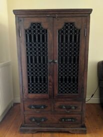 Large Middle-East Style Wood TV Cabinet