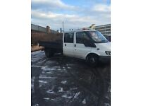 Ford transit crew cab tipper good van