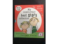 Five hardback Charlie and Lola books and Story CD