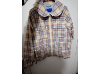 Men's Adidas Originals Check Field Jacket / Gilet - Rain Coat Multiple Pockets