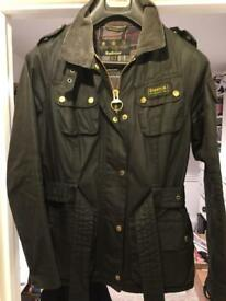 Women's Barbour international wax jacket