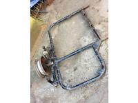Vintage Motorcycle side car frame and wheel £75