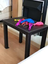 Three nest of tables leather