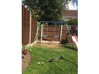 Hi for sale twin swings outdoor
