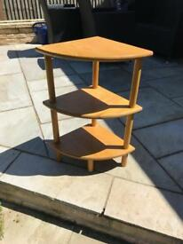 Light wood corner unit