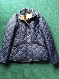 Joules navy quilted jacket - size 8 - new