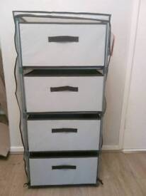 Brand new canvas 4 draw storage unit RRP £40 free delivery in hull