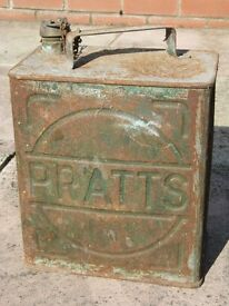 Genuine Pratts Vintage Motor Spirit Can - Used