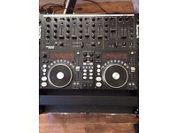 Full DJ Console including 5 channel mixer, Dual CD/MP3 player and Amplifier in Flightcase